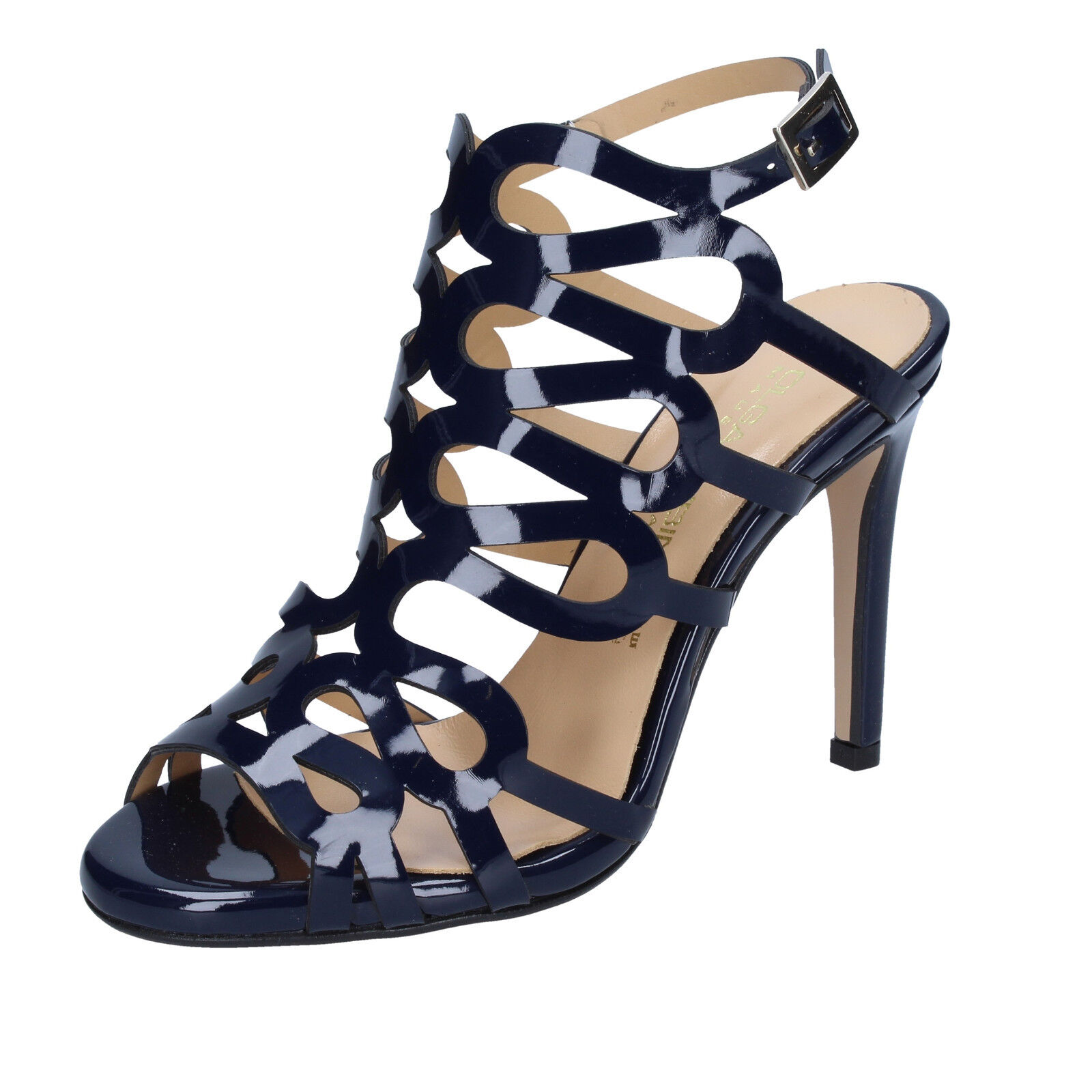 Women's shoes OLGA RUBINI 4 (EU 37) sandals bluee patent leather BS91-37