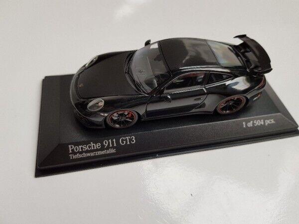 1 43 Minichamps Porsche 911 gt3 2016 nero metálico 410 066021