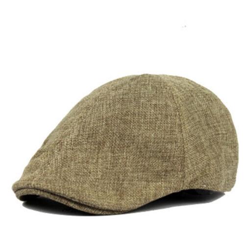 Vintage Pour Homme Plat Chapeau Laine Gatsby Newsboy Taxi Driver Qualité Premium