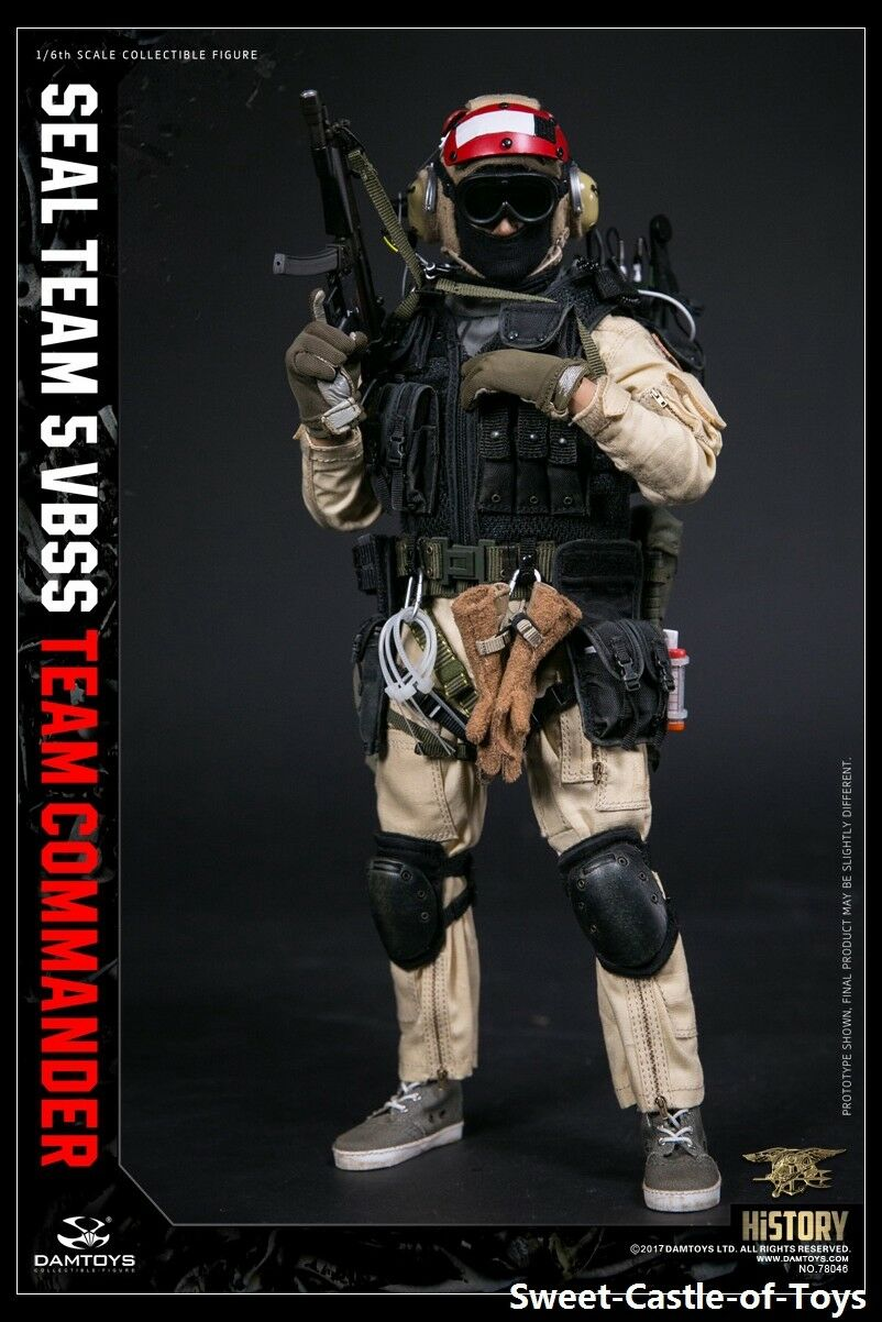 1/6 DamToys US Seal Team 5 VBSS Commander 78046 Action Figure ROT Helmet DAM