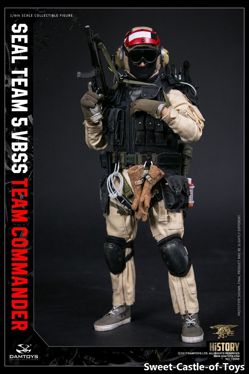 1/6 DamToys US Seal Team 5 VBSS Commander 78046 Action Action Action Figure ROT Helmet DAM 89b6c2
