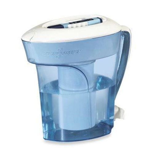 ZeroWater ZP-010 10 Cup Water Filter Pitcher with Water Quality Meter