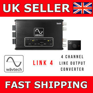 Low Level Converter High Level Speaker Output To Rca US Ship 2Ch Hi