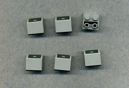 Grau//OldGray Dachziegel 2 x 2-- 45° Negativ 6 Stück Lego--3660