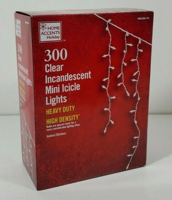 NEW 300 MINI LIGHTS HOME ACCENTS HOLIDAY BEAUTIFUL INCANDESCENT ICICLE LIGHTS