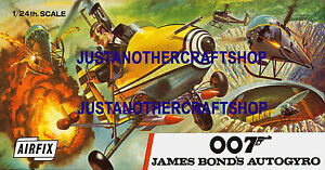 Airfix-James-Bond-autogiro-grandes-Cartel-Anuncio-Tienda-Signo-prospecto-Caja-obra-de-arte