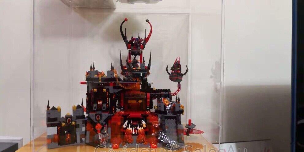 Legodisplay case for  LEGO Nexo Knights Jestro's Volcano Lair 70323 (Aus Seller)  negozi al dettaglio