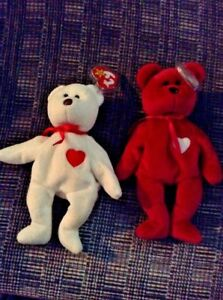 d0b49030a35 Image is loading Extremely-rare-Valentino-Valentina-pair-beanie-babies-Ty-