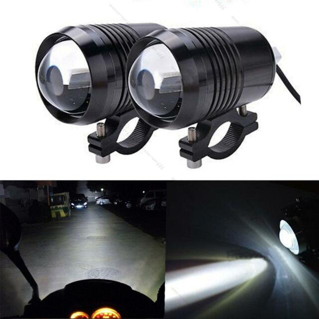 2pcs Waterproof 12V Cree U2 LED Laser Car Motorcycle #L Head Light Spot Fog Lamp