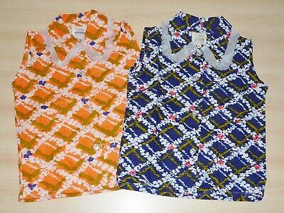 Imparziale 2 Pack Di Vintage 1970s Ragazze Arancione & Navy Frilly Collare Camicie Età 4 Fino A 6-mostra Il Titolo Originale Per Godere Di Alta Reputazione Nel Mercato Internazionale