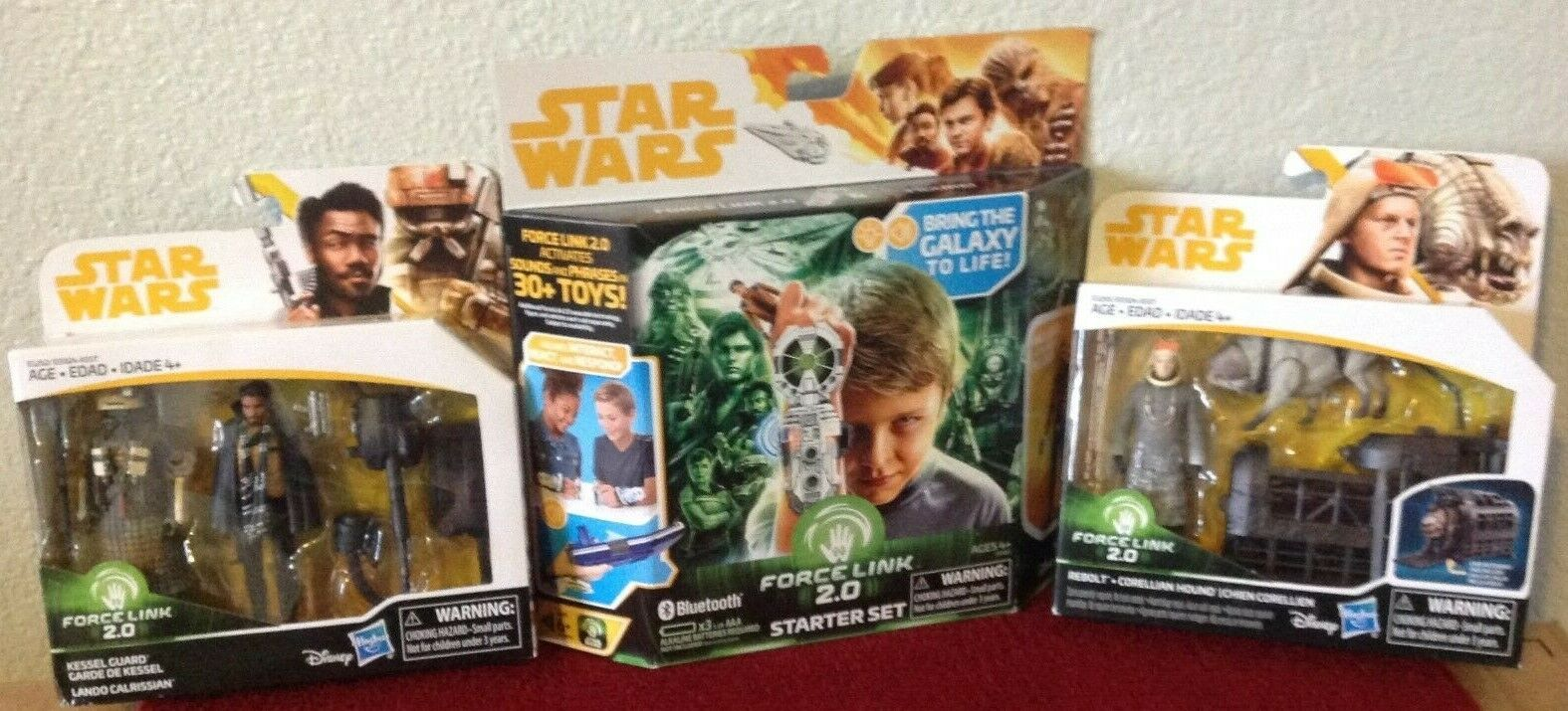 Star Wars Figures  Rebolt & Corellian Hound, Lando & Kessel Guard +Force Link 2.