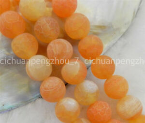 """Wholesale 8mm Pink Dream Fire Dragon Veins Agate Loose Beads 15/"""""""