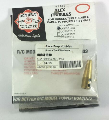 Octura OCFSF1818 Brass Flex Ferrule
