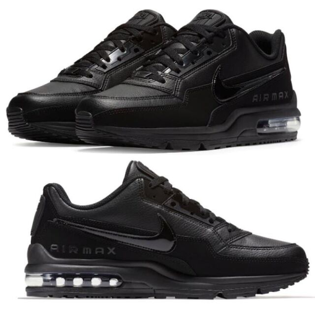 buy popular 49ca6 eb0b4 New NIKE Air Max LTD 3 Leather Mens triple black all sizes