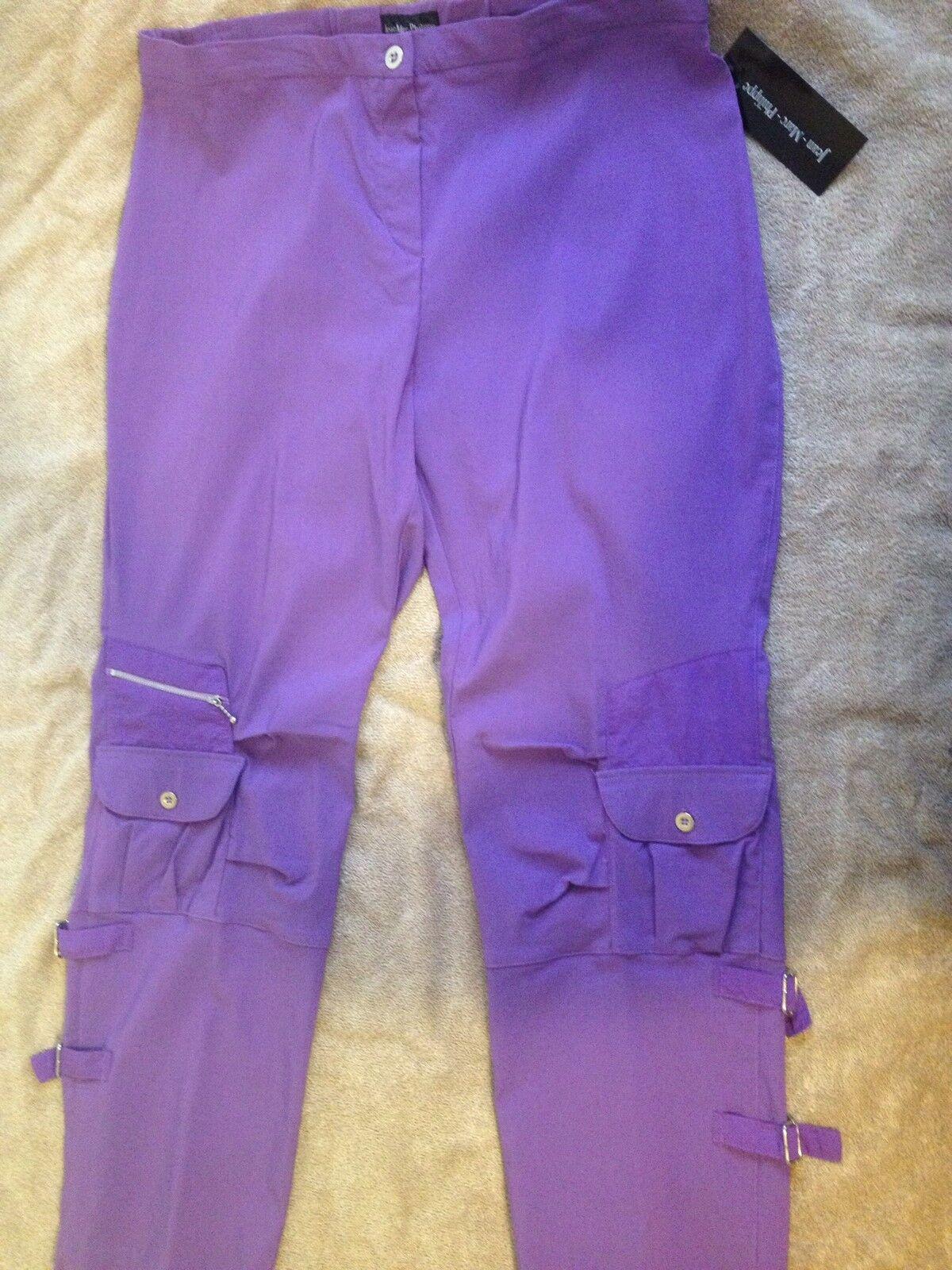 Plus Size Women Pants By Jean Marc Philippe Size18 Purple purple