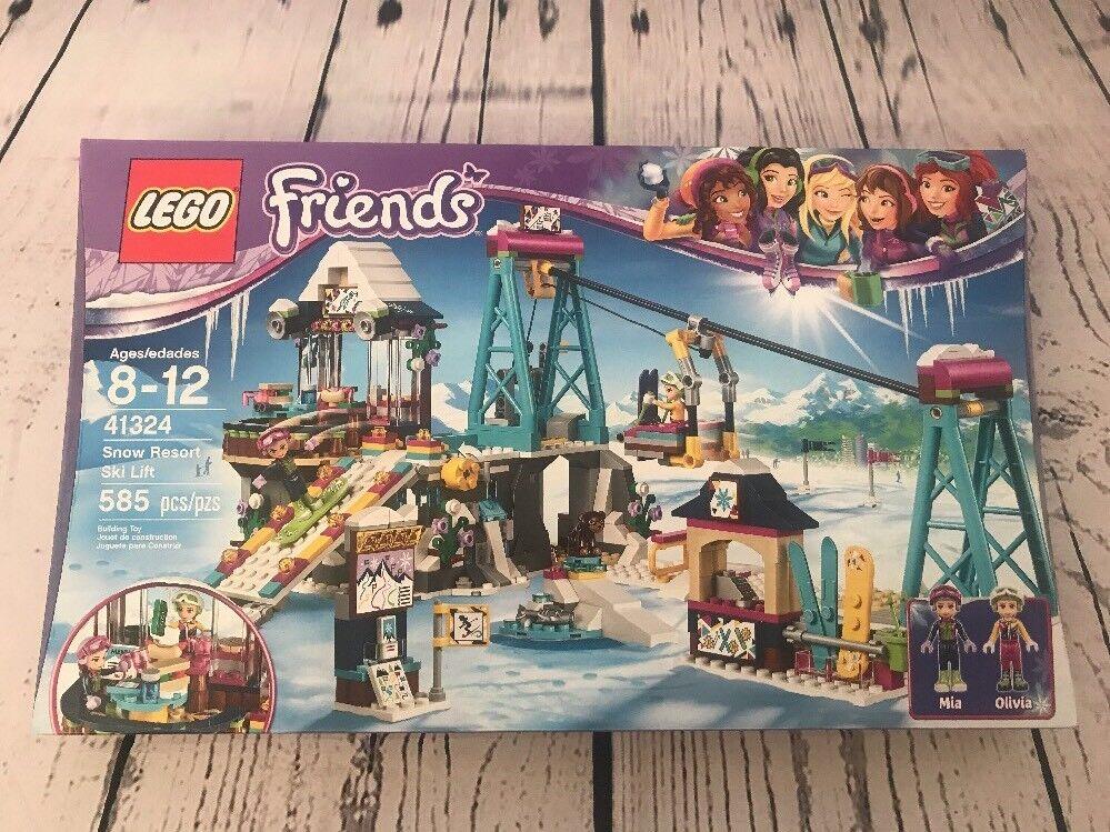 LEGO Friends Snow Resort Ski Lift 41324 Building Kit 585 Piece New Sealed