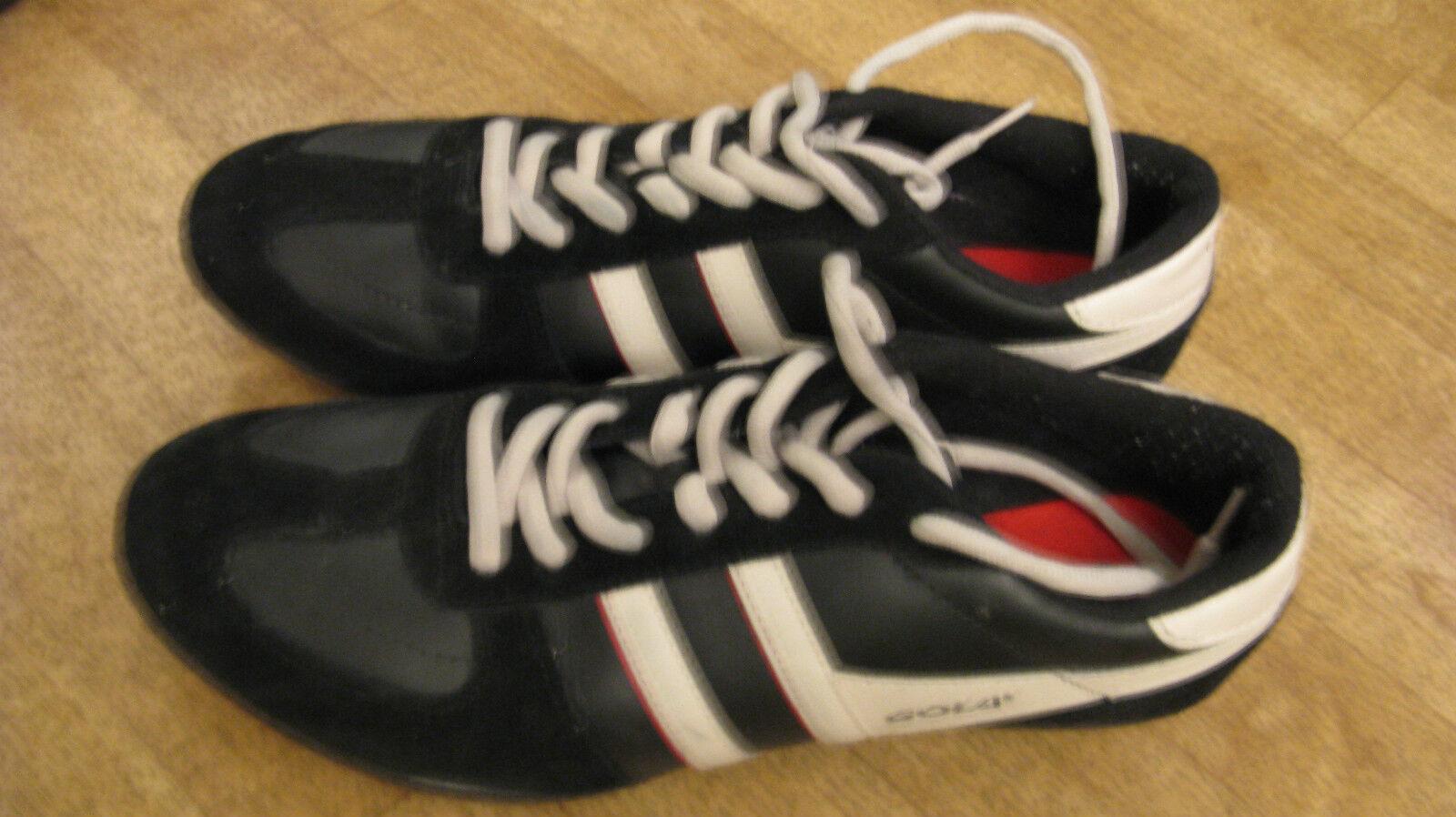 Gola Herren Sneaker Gr. 44 Schwarz Weiß Leder Sneakers Turnschuhe Men Gay Skater