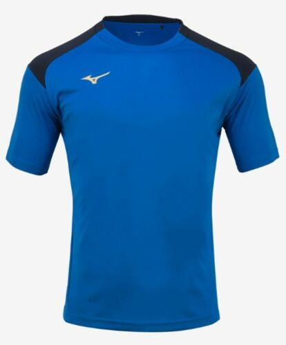 Mizuno Men GAME S//S T-Shirts Jersey Training White Blue Top Tee Shirt P2MA8K0301