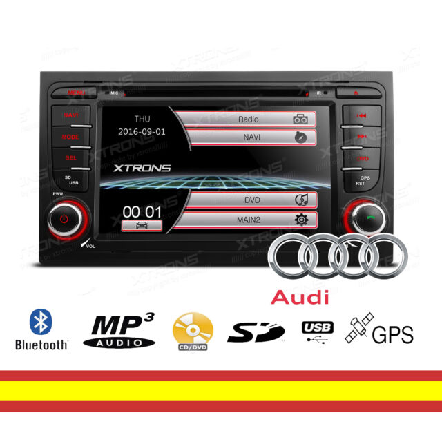 "Autorradio GPS para Audi A4 S4 RS4 7"" Bluetooth Mirroring Soporta Camara trasera"