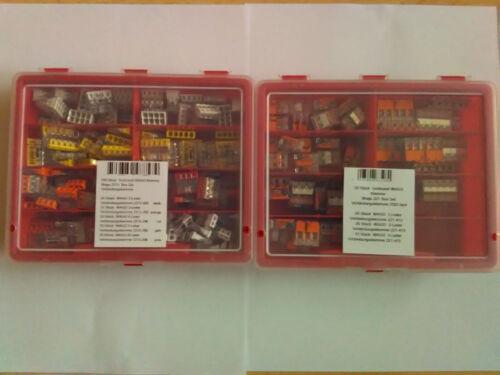 210 pezzi assortimento WAGO Morsetto WAGO 2273//221 2x Box Set connessione morsetto