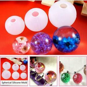 Silicone-Transparent-Ball-Epoxy-Resin-Mold-DIY-Pendant-Mould-Making-Tool-Craft