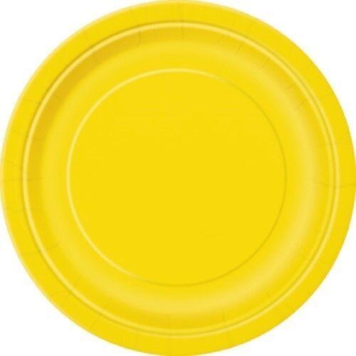 Vajilla De Fiesta En Amarillo Decoraciones De Eventos Fuentes De Cumpleaños Desechable