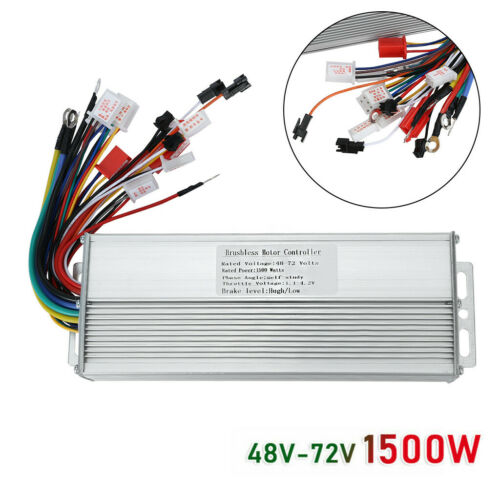 36//48//72V 350//1500W Electric E-bike Scooter Brushless DC Motor Speed Controller