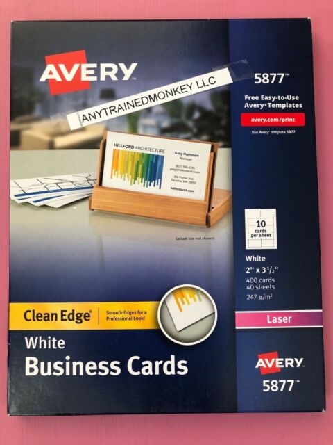 AVE8870 Avery Two-Side Printable Clean Edge Business Cards