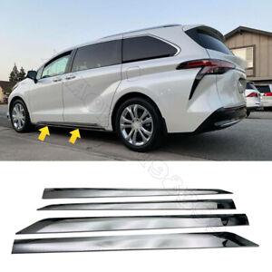 Chrome ABS Car Door Guard Molding Strip Trim 4pcs For Toyota Sienna 2021-2022
