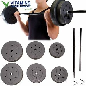 Vinyl weight set fitness workout home gym arm legs exercise