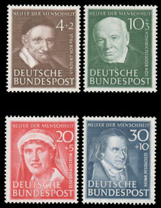 Germany-B320-B323-MNH-CV-120-00-1951-CHARITY-PORTRAIT-SEMI-POSTAL-SET