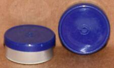 20mm Aluminum Plain Flip Top Serum Vial Seals Dark Blue Qty 50