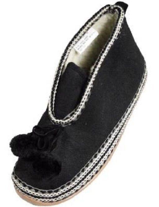 NIB Deer Stags - Ladies 8M Mutsy Slipperooz Slippers, Navy
