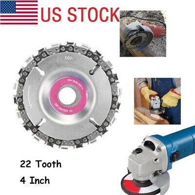 """22 Tooth 4/"""" Cut Grinder Disc and Chain Wood Carving For 100//115 Angle Grinder UK"""