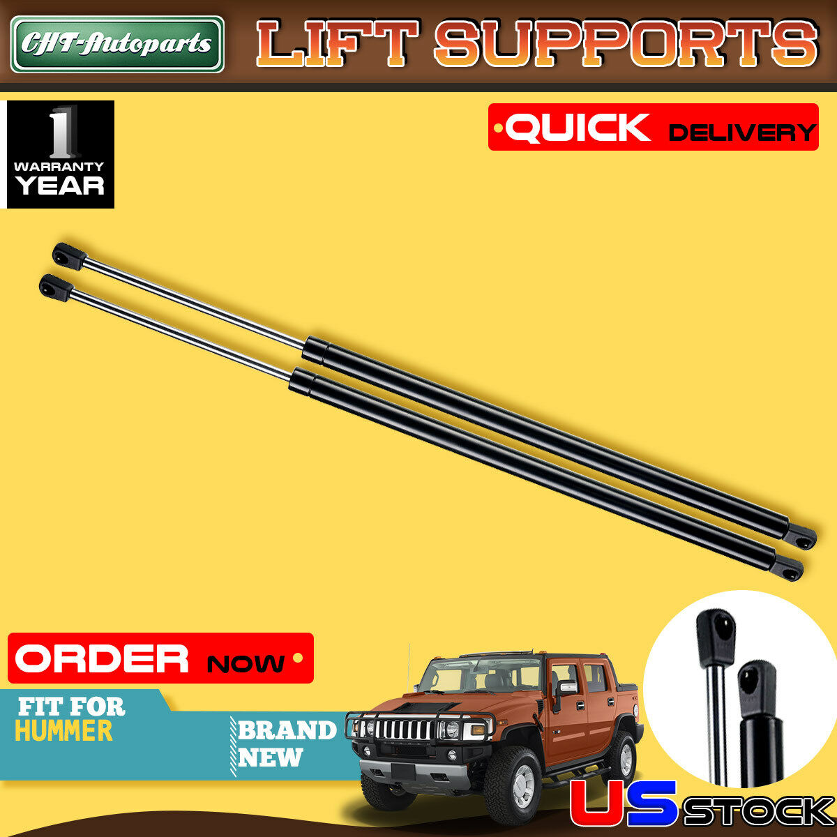 2Qty Tailgate Rear Lift Support Shock Strut Fit For 03-07 Mitsubishi Outlander