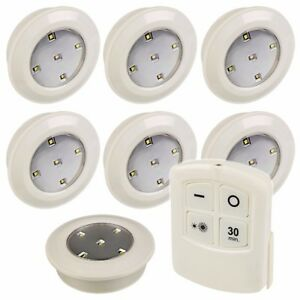 12 Remote Control Wireless LED Push Lights Battery Ceiling ...