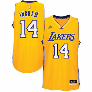 Brandon Ingram  14 Los Angeles Lakers adidas Swingman Men s Jersey ... da2ee40672cf