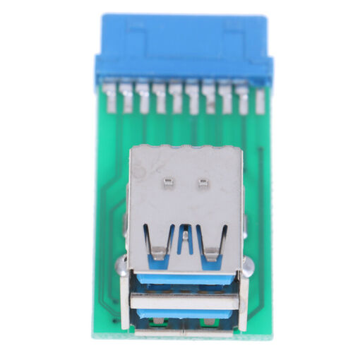 1Pc Motherboard 20Pin Header To 2 Ports USB 3.0 Type A Female Port HUB Adapte SL