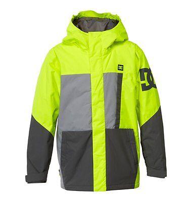 New 2015 Boys Youth DC AMO Snowboard Jacket Medium Safety Yellow