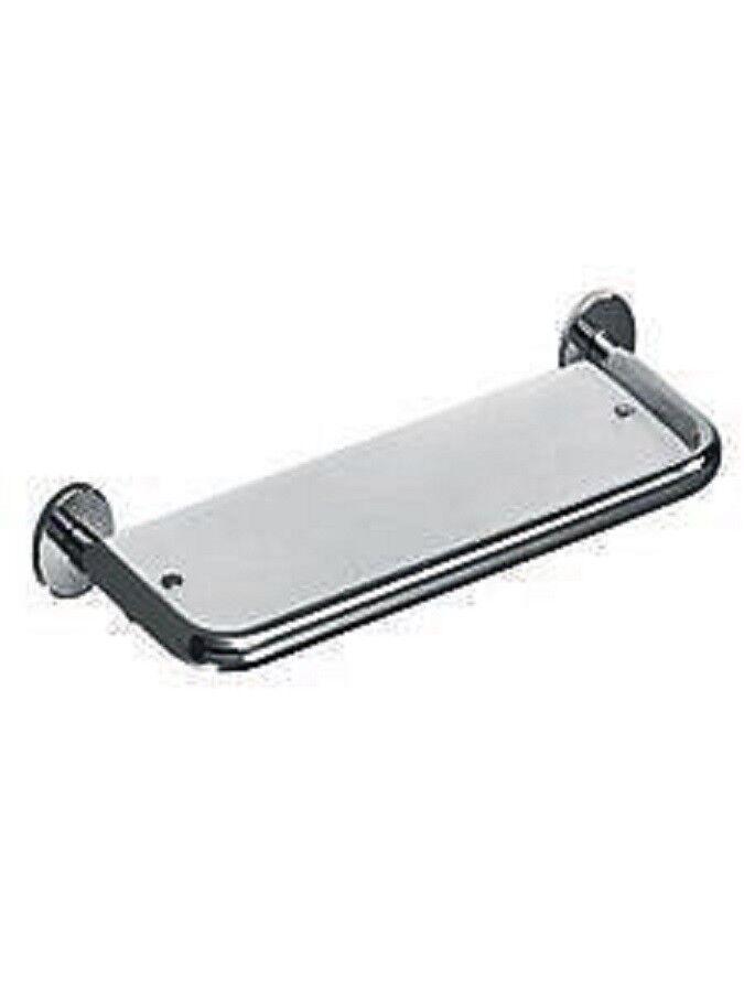 ItalBrass Bathroom Glass Shelf 0K60-033 P.Stainless