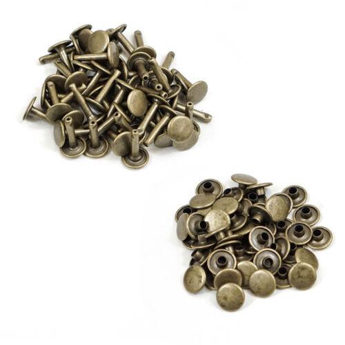 10mm x 18mm Doppel Kappe Nieten Extra Lang DIY Scrapbooking Basteln Metall 50pcs