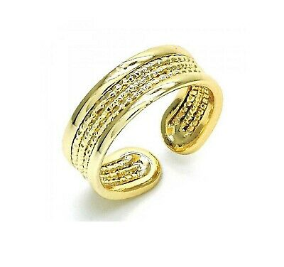 New 9 CT Gold Filled  Diamond Cutting  Polish Finished Toe Ring  B322