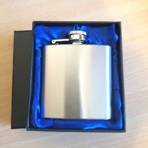 Personalised Engraved Stainless Steel 3oz Hip Flask