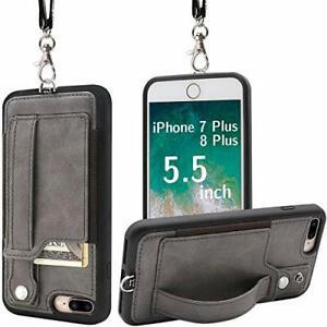 Toovren aufgerüstet iPhone 8 Plus Case, iPhone 7 Plus Handy Case, Leder Portemonnaie
