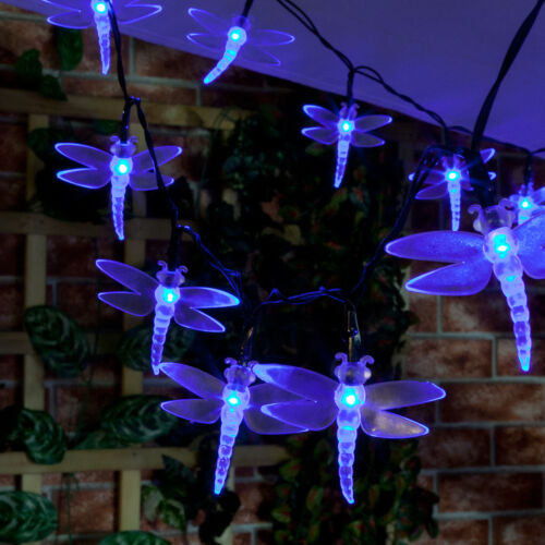 Solar Power Outdoor LED Fairy Party LightsGarden Butterfly Star Blossom