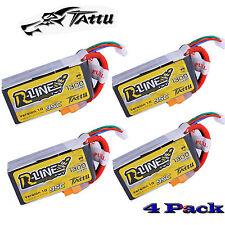 4 Pack Tattu R-Line 4S 1300mAh 95C 4S1P 14.8V Lipo FPV Racing Battery XT60 Plug