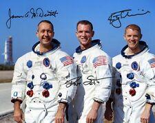 APOLLO 9:  MCDIVITT, SCOTT, SCHWEICKART - Repro-Autogramm, 20x25cm, NASA