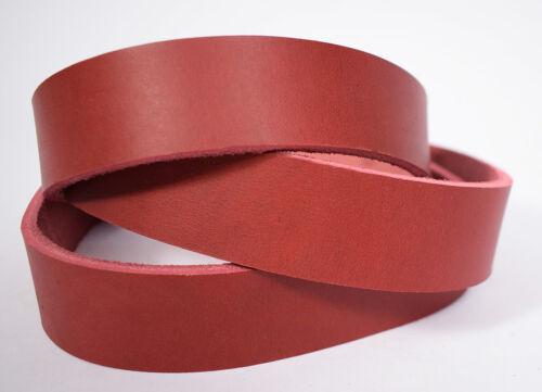 Blankleder Lederriemen Ledergurt Riemen 3,5-4,0 mm oxblood rot 1-10 cm #dox