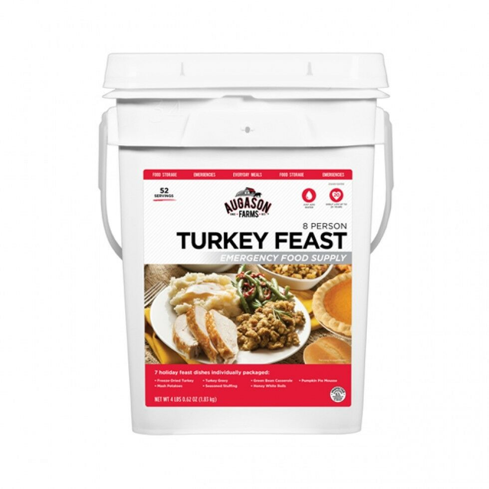 Augason Farms, TURKEY FEAST 8 Person Emergency Food Camping Survival