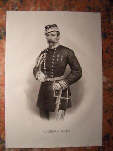 Ritratto-Risorgimento-1862-Generale-Milbiz-Spedizione-dei-Mille-Garibaldini